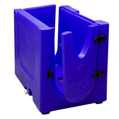 35 in. x 24.7 in. Pet Shower and Grooming Enclosure in Sapphire Blue