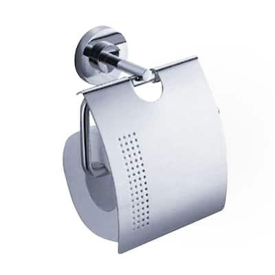 Alzato Single Post Toilet Paper Holder in Chrome