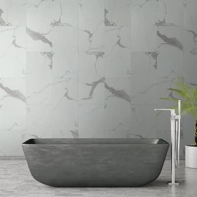 Carrara Luciano 11.81 in. W x 23.62 in. L Rigid Core Click Lock Luxury Vinyl Tile Flooring (19.37 sq. ft./case)