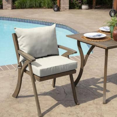 21 in. x 17 in. 2-Piece Deep Seating Outdoor Lounge Chair Cushion in Sand Acrylic