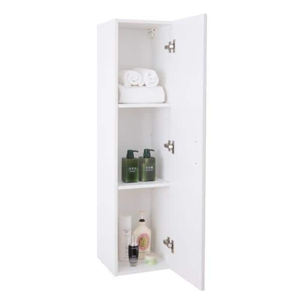 Basicwise Modern Long Bathroom Wall, Wall Mounted Storage Cabinets Home Depot