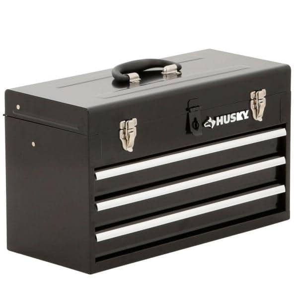 Husky 20 in. 3-Drawer Small Metal Portable Toolbox