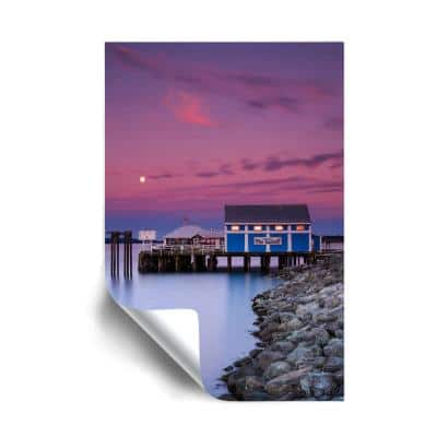 """""""Moon over Sidney fish market"""" Beach and Nautical Removable Wall Mural"""