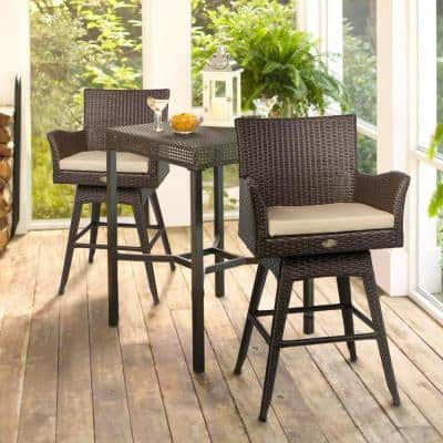 Swivel Outdoor Bar Stools, Patio Furniture Bar Height Chairs