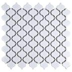 Lantern Mini Glossy White 10-3/4 in. x 11-1/4 in. x 5 mm Porcelain Mosaic Tile