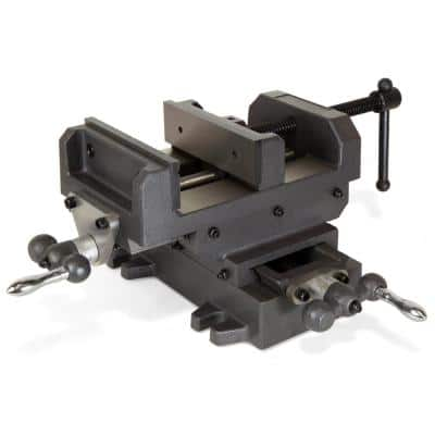 6-1/8 in. Compound Cross Slide Industrial Strength Benchtop Vise