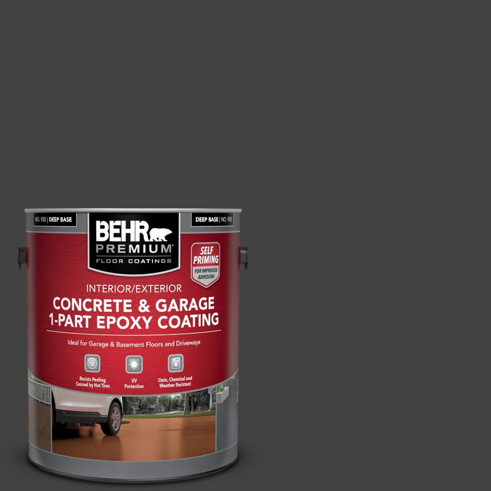 1 gal. #PFC-75 Tar Black Self-Priming 1-Part Epoxy Satin Interior/Exterior Concrete and Garage Floor Paint