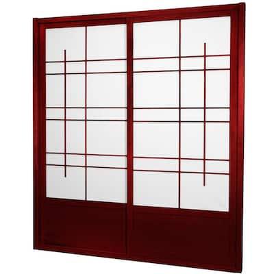 7 ft. Rosewood Eudes 0-Panel Room Divider