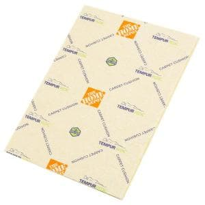 Tempur Material with SpillSafe Moisture Barrier 7/16 in. Thick 8 lb. Density Carpet Pad