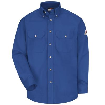 EXCEL FR ComforTouch Men's Medium (Tall) Royal Blue Dress Uniform Shirt