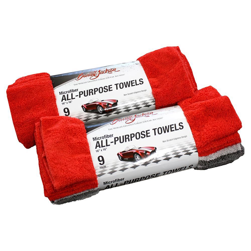All-Purpose Towel Kit Set of 2 Red/Light Gray/Dark Gray (9-Pack)