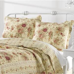 Antique Rose 2-Piece Multicolored Twin Quilt Set