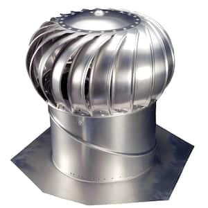 14 in. Mill Finish Aluminum Internally Braced Whirlybird Wind Turbine