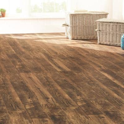Hillrose Fusion 12 mm T x 6.06 in W x 50.67 in L Water Resistant Laminate Flooring (17.07 sq. ft./case)