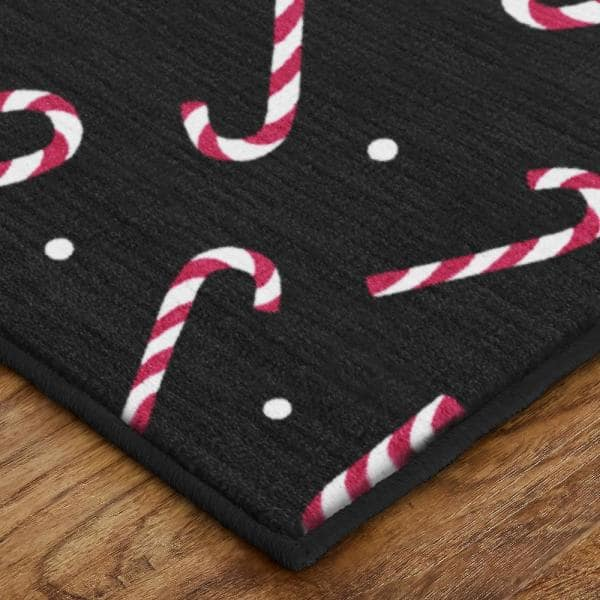 Rhinestud Applique    Colors Red /& Black   Measures 7 18 across x 6 12  Iron On or Heat Transfer Candy Canes