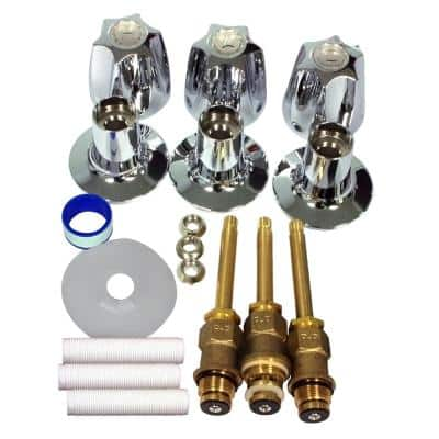 S10-230 Verve 3-Handle Valve Rebuild Kit for Tub and Shower Faucets in Chrome Finish