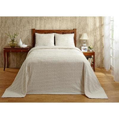Natick 1-Piece Ivory Twin Coverlet Set
