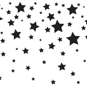 Falling Stars White & Black Wallpaper Border