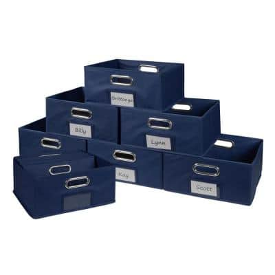 Cheer 12 in. D x 12 in. W x 6 in. H Blue Folding Fabric Bin (12-Pack)