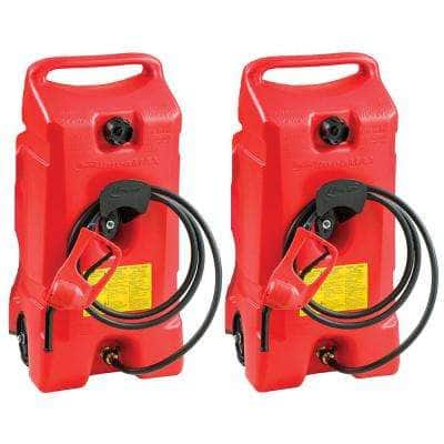 DuraMax 14 Gal. Portable Gas Fuel Tank with Pump (2-Pack)