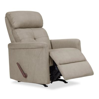 Rocker in Stone Nubuck Fabric Recliner Chair
