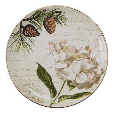 Wintertime Multicolor Salad Plate (Set of 4)