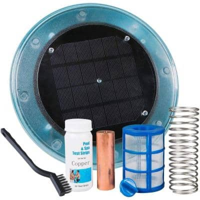Large Solar-Powered Algaecide Killer Pool Ionizer and Purifier System for 35,000 Gal. In/Above Ground Pools
