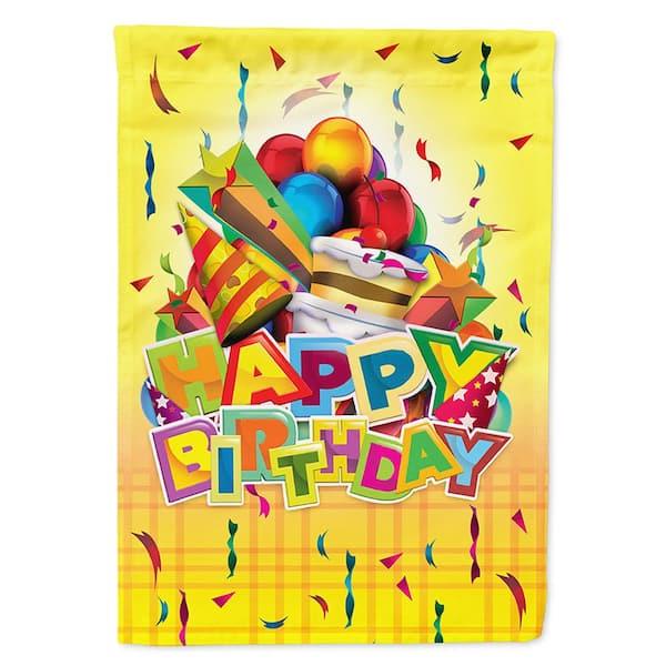 Polyester Happy Birthday Party, Birthday Garden Flags