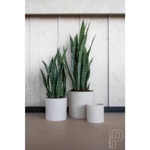 33.46 in. Green Sansevieria Indoor Outdoor Plastic Artificial Plant with Pot