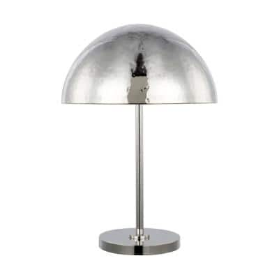 ED Ellen DeGeneres Crafted by Generation Lighting Whare Polished Nickel Table Lamp with Polished Nickel Steel Shade