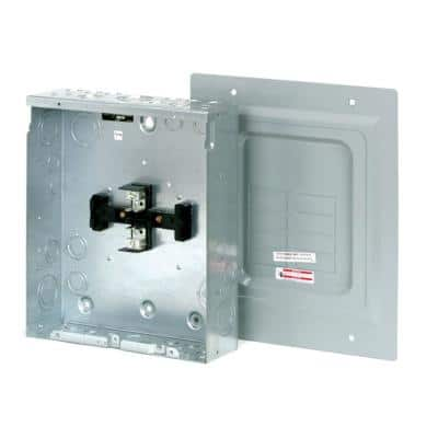 BR 125 Amp 4-Space 8-Circuit Indoor Main Lug Loadcenter with Surface Cover and Ground Bar