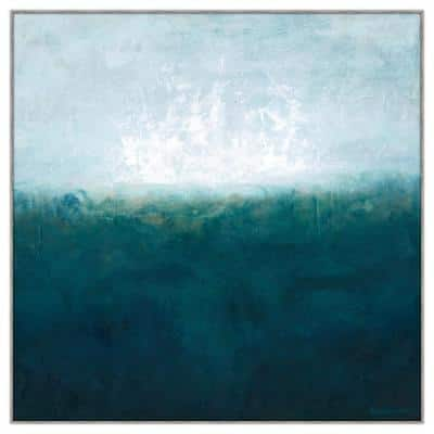 """40 in. x 40 in. """"Latitude I"""" Framed Canvas Wall Art"""
