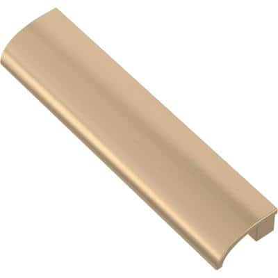 Rounded Slimline 3 in. or 3-3/4 in. (76 mm or 96 mm) Champagne Bronze Dual Mount Drawer Pull