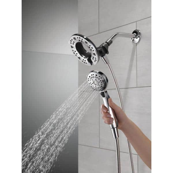 Delta Faucet 4-Spray Touch-Clean In2ition 2-in-1 Dual Hand Held Shower Head...
