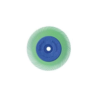 Sunburst - 6 in. TC Radial Discs - 1/2 in. Arbor - Thermoplastic Cleaning and Polishing Tool, U-Fine 1 Micron (1-Pack)