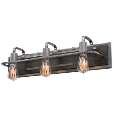 Lofty 3-Light Steel Vanity Light