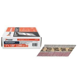 3 in. x 0.120-Gauge 30-Degree Brite Smooth Shank Paper Tape Framing Nails (2500 per Box)