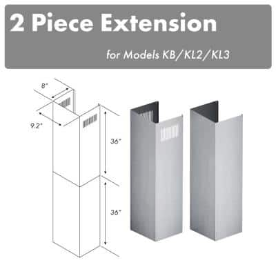 10 ft. to 12 ft. Ceiling Adjustable 2-Piece Chimney Extension Kit