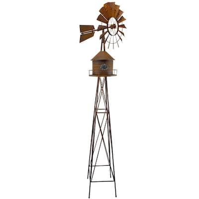 Windmill Rust Water Tower Small