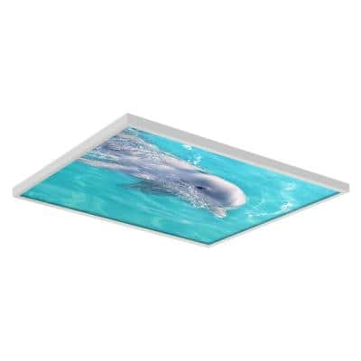 Ocean 002 2 ft. x 2 ft. Flexible Decorative Light Diffuser Panels Ocean for Classrooms and Offices