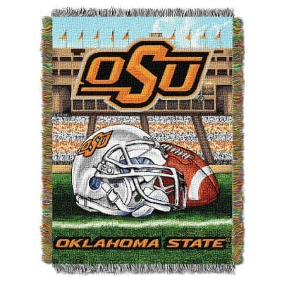 Oklahoma State University Polyester Throw Blanket