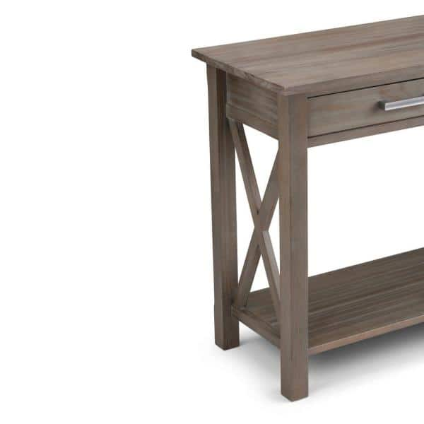 Brooklyn Max Providence 48 In Distressed Gray Rectangle Wood Console Table With Drawers Bmcrgl003 Gr The Home Depot