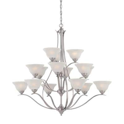 Prestige 15-Light Brushed Nickel Hanging Chandelier