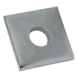 1/2 in. Square Strut Washer - Silver Galvanized (10 Packs of 5/Case - 50 Total Pieces)