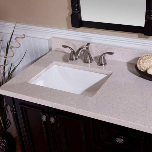 St Paul 4 In Solid Surface Technology Vanity Top Sample In Slate Chss44 S The Home Depot
