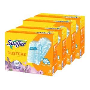 180 Duster Multi-Surface Refills with Febreze Lavender Vanilla and Comfort Scent (18-Count, 4-Pack)