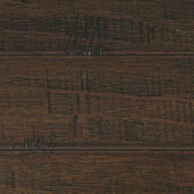 Hand Scraped Strand Woven Wellington 3/8 in. T x 5-1/8 in. W x 36 in. L Engineered Click Bamboo Flooring