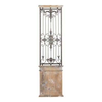Rustic 71 in. Wrought Iron Wall Panel