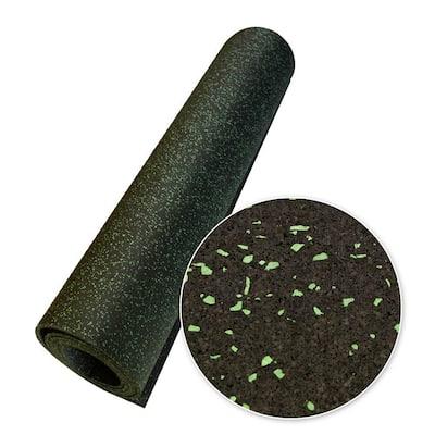 Elephant Bark Green Dot 3/8 in. T x 48 in. W x 144 in. L Rubber Flooring (48 sq ft.)