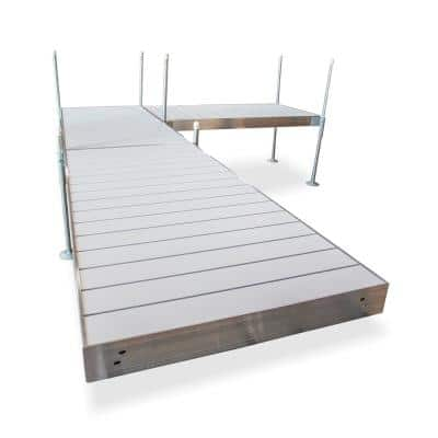 16 ft. L-Style Aluminum Frame with Aluminum Decking Platinum Series Complete Dock Package